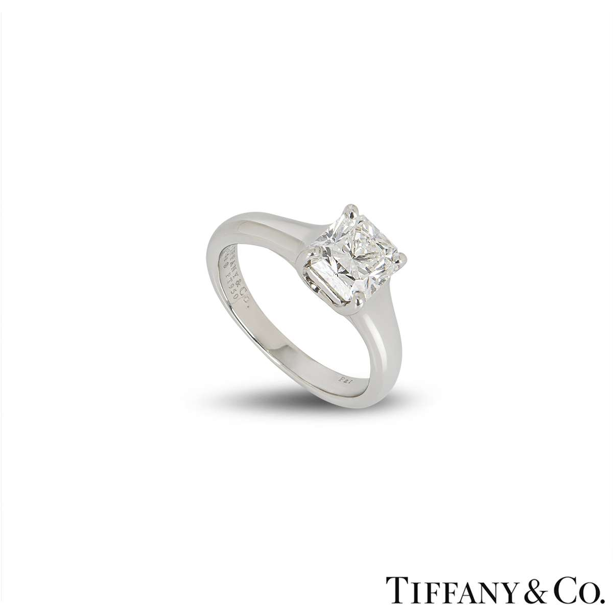 Tiffany & Co. Platinum Diamond Lucida Ring 1.10ct G/VVS1
